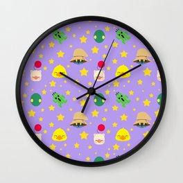 final fantasy pattern lilac Wall Clock