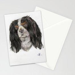 Cavalier King Charles spaniel dog original art print Stationery Cards