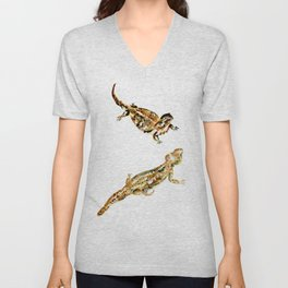 Bearded Dragon Painting Unisex V-Neck