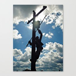 Rusty the Lineman Canvas Print