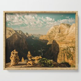 Zion Mornings - National Parks Nature Photography Serving Tray