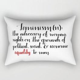 Feminism Definition Rectangular Pillow