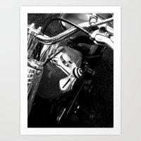 Black & White Harley Art Print