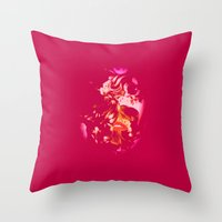 ruby Throw Pillows featuring Ruby by The Rogue Iris