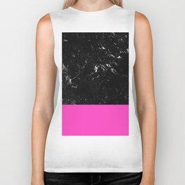 Pink Meets Black Marble #1 #decor #art #society6 Biker Tank