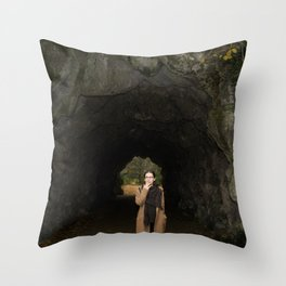 The Transition from Summer to Winter Throw Pillow