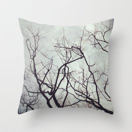 sticks in the gloom Throw Pillow