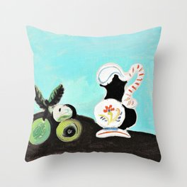 Pablo Picasso - Still life, fruit and pot - Digital Remastered Edition Throw Pillow