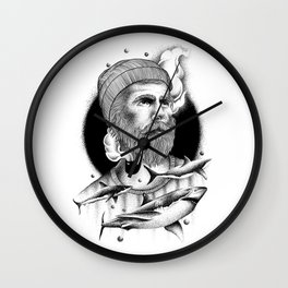THE MAN AND THE SEA Wall Clock