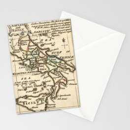 Vintage Map of Italy (1758) Stationery Cards