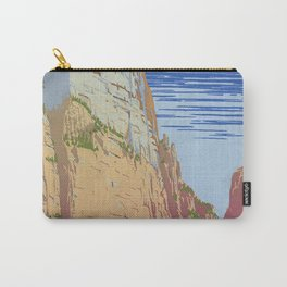 Vintage poster - Zion National Park Carry-All Pouch