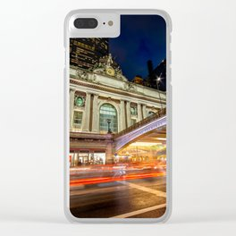 Rainy night at Grand Central Terminal 2019 vertical version Clear iPhone Case