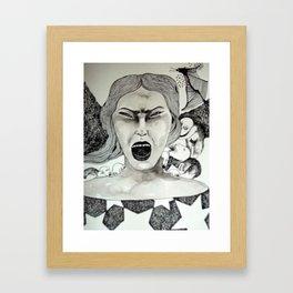 hay gente en mi cabeza Framed Art Print