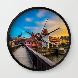 Cesky Krumlov HDR Wall Clock