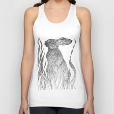 Hiding in the green Unisex Tank Top