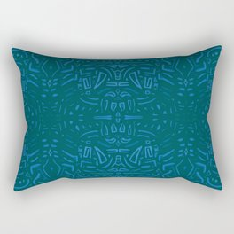 Azules abstractos Rectangular Pillow