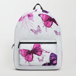 Beautiful Pink and Purple Butterflies Backpack