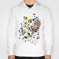 headphones Hoodies featuring Headphones by AURA-HYSTERICA