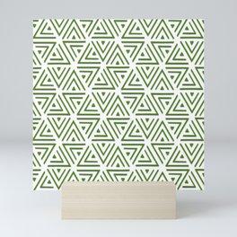 Green Shadowed Triangles Mini Art Print