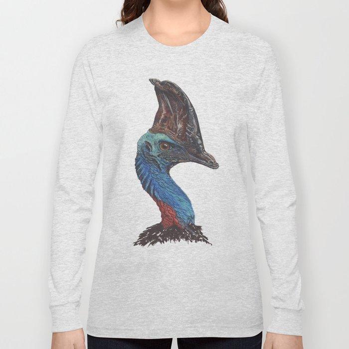 Southern Cassowary Long Sleeve T-shirt