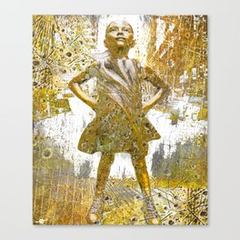 Fearless Girl Women's Rights Me Too Empower Empowerment Woman Women Canvas Print