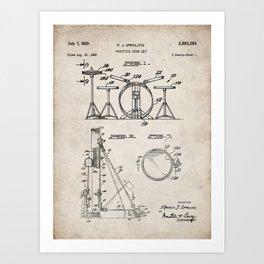 Drum Set Patent - Drummer Art - Antique Art Print