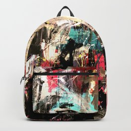 Silverwolf, wolf, painting, wolfpack. Backpack