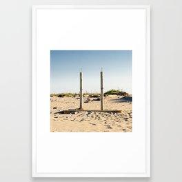 Dutxes / Duchas / Showers Framed Art Print