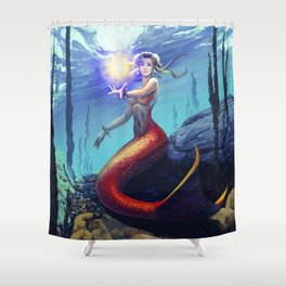 Mermaid Chun Li Shower Curtain