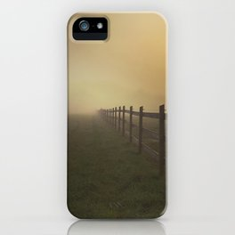 Misty Sunrise on the Farm iPhone Case