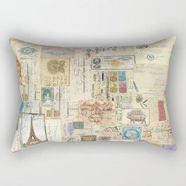 Quirky Documents pastel Patchwork Rectangular Pillow