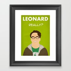 The Big Bang Theory - Leonard Framed Art Print