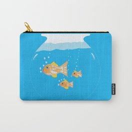 Three Goldfishes In a Water Bowl Carry-All Pouch