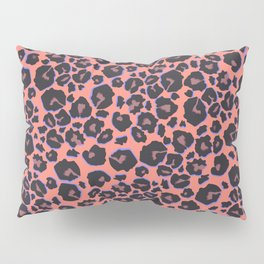 leopard pattern in neon color Pillow Sham