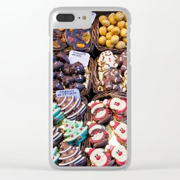 """Candy counter for sale in barcelona market """"la bocateria"""" Clear iPhone Case"""