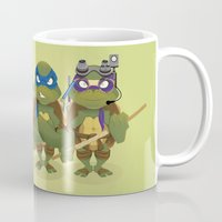 tmnt Mugs featuring TMNT by Micka Design