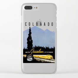 Union Pacific Train poster 1936 - Retouched Version Clear iPhone Case