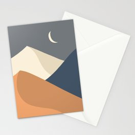 Abstract desert Landscape by the Moon 3. Stationery Cards