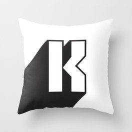 SUPER K Throw Pillow