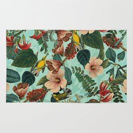 FLORAL AND BIRDS XIII Rug