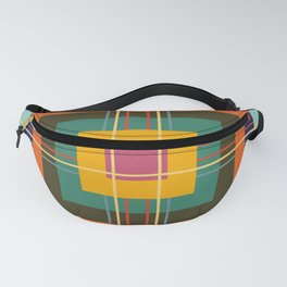 Fine Lines on Retro Colored Squares Fanny Pack