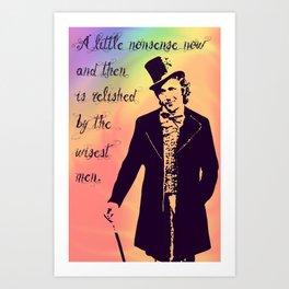 Wonka Art Print