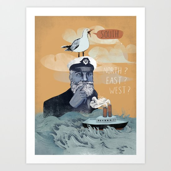 The Captains Lost Again  Art Print