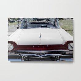 Classic White Ford Metal Print