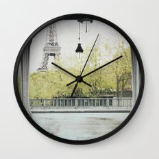 Letters From Autumn in Paris Wall Clock