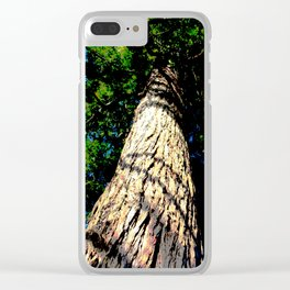 Look Up Comic Filtered Clear iPhone Case