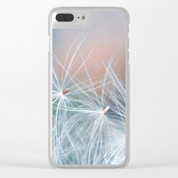 DREAMY DANDELION Clear iPhone Case
