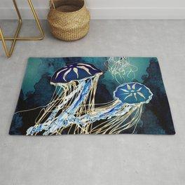 Metallic Jellyfish III Rug