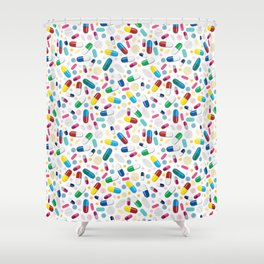 Happy Pills Shower Curtain