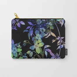 garland of flowers black version Carry-All Pouch